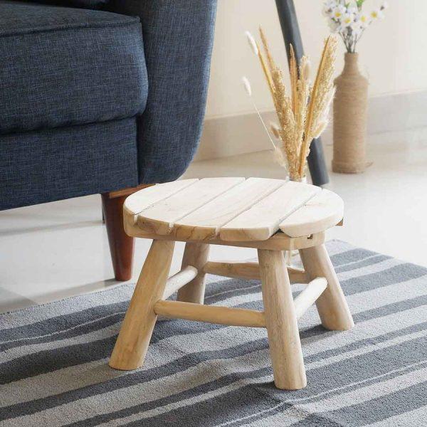 Kursi kayu stool mini
